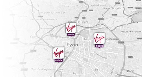 Carte magasin Virgin Lyon
